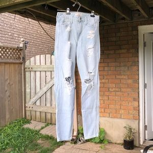 Hollister Light Wash Boyfriend Jeans